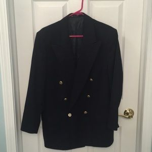 Burberry navy double breasted blazer